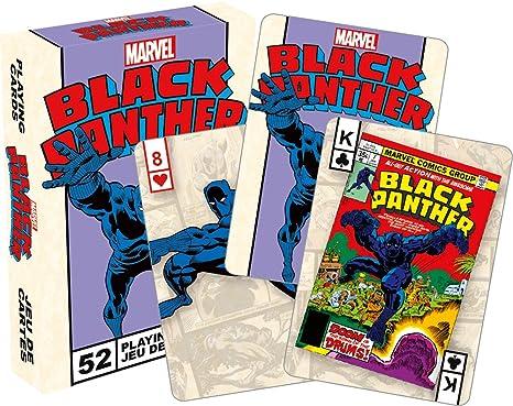 Marvel Juego de cartas Negro Pantera Retro Poker 52532 ...