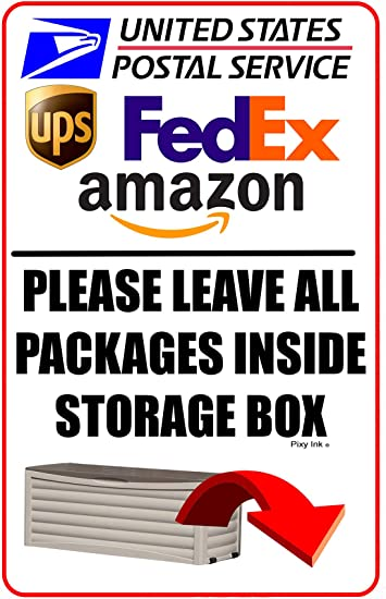 Please Deliver Packages To Drop Box Sign USPS Delivery