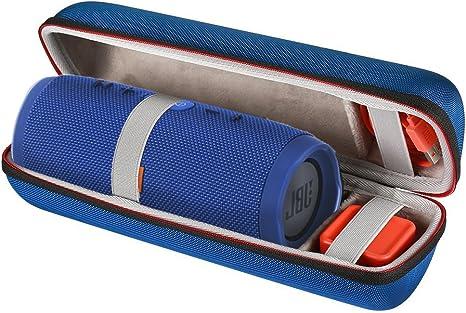 Scorel EVA Hard Case Reise Tragetasche für JBL Charge 3 Wireless Bluetooth Lautsprecher(Blau)