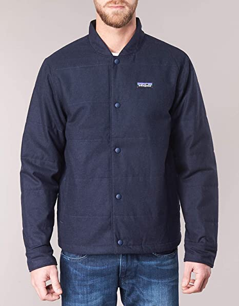 7b01a41df Patagonia Men's Recycled Wool Bomber Jacket: Amazon.co.uk: Sports ...