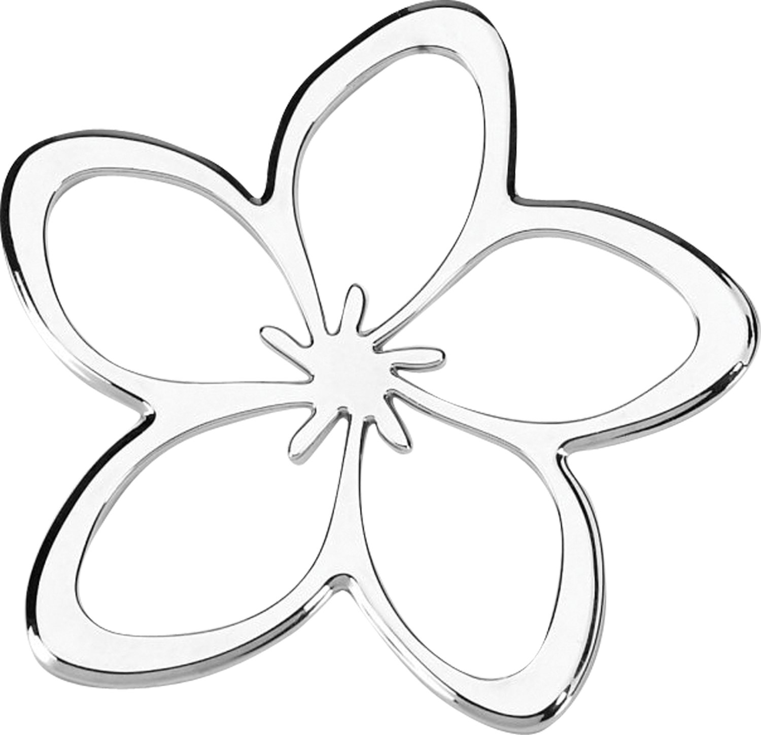 Cruiser Accessories 83033 Plumeria 3d Cals Raised Adhesive Decal Chrome