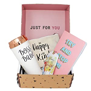 Special Birthday Womens Gift Basket Box Set for Mom- With a Mom Coffee Travel Mug, Fancy Notebook,Spacious makeup bag- Mothers day gifts