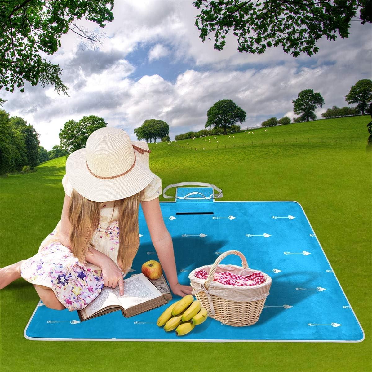 XINGAKA Coperta da Picnic Tappetino Campeggio,Vento d'Annata Bello Modello Senza Cuciture d'avanguardia,Giardino Spiaggia Impermeabile Anti Sabbia 11