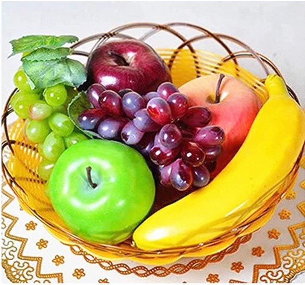 BeatlGem Artificial Plastic Realistic Looking 6 Mixed Fruits Simulation Plastic Decorative Fruits Display Creative Home Decor/Teaching