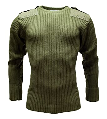 New Mens Doorman Security Army Nato Combat Military Knitted Pullover Nato Jumper