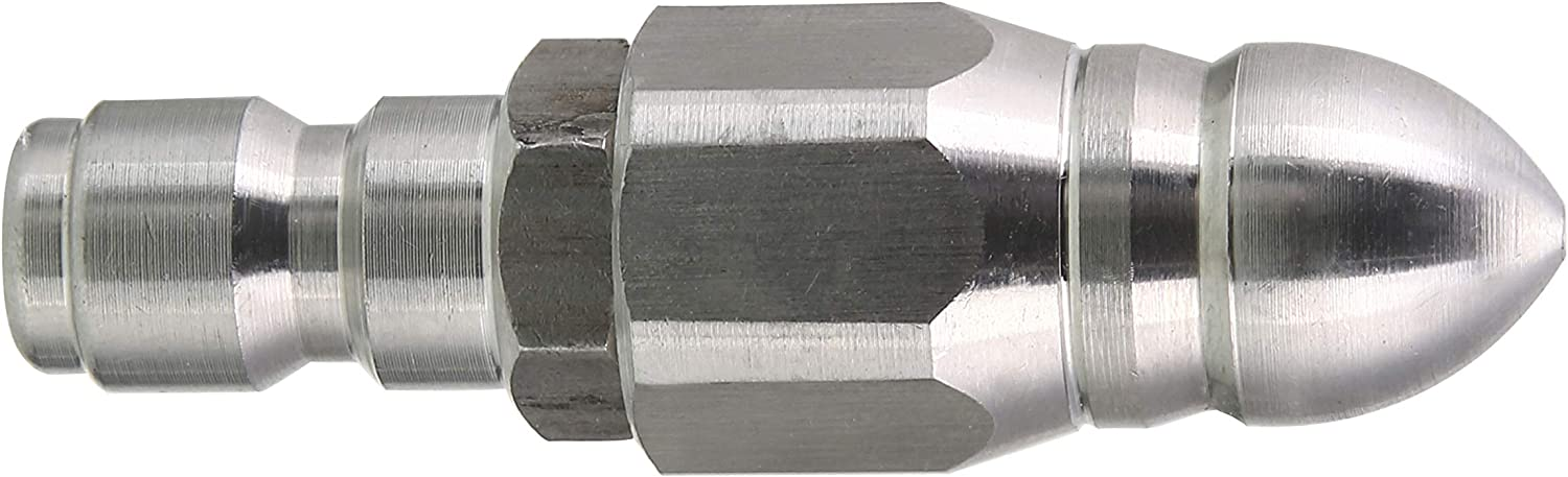 Tool Daily Pressure Washer Sewer Jetter Nozzle, Drain Jet Hose Nozzle, 1/4 Inch Quick Connector, 5000 PSI