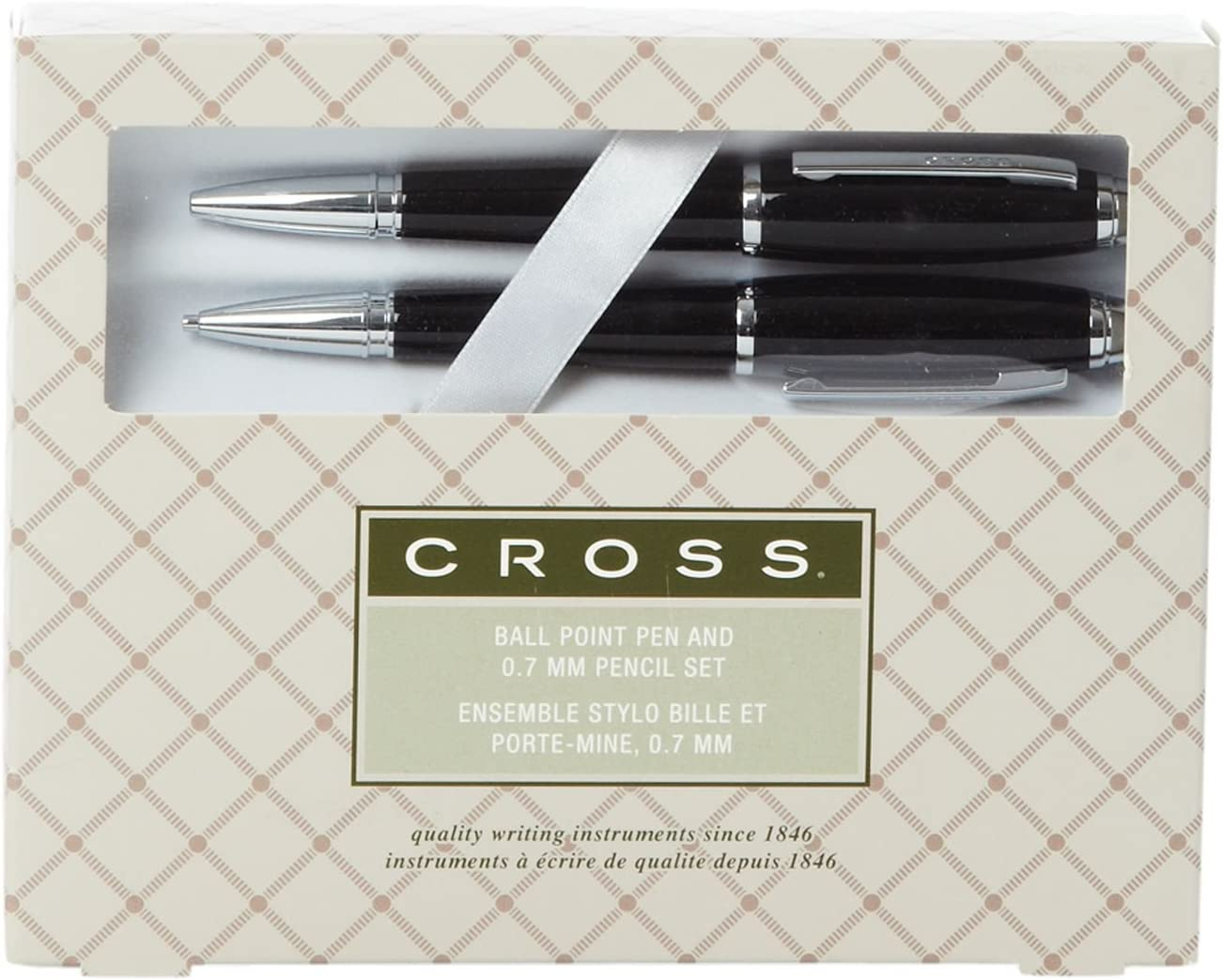 Polished Chrome New In Box Cross Avitar Ballpoint Pen /& .7mm Pencil Set