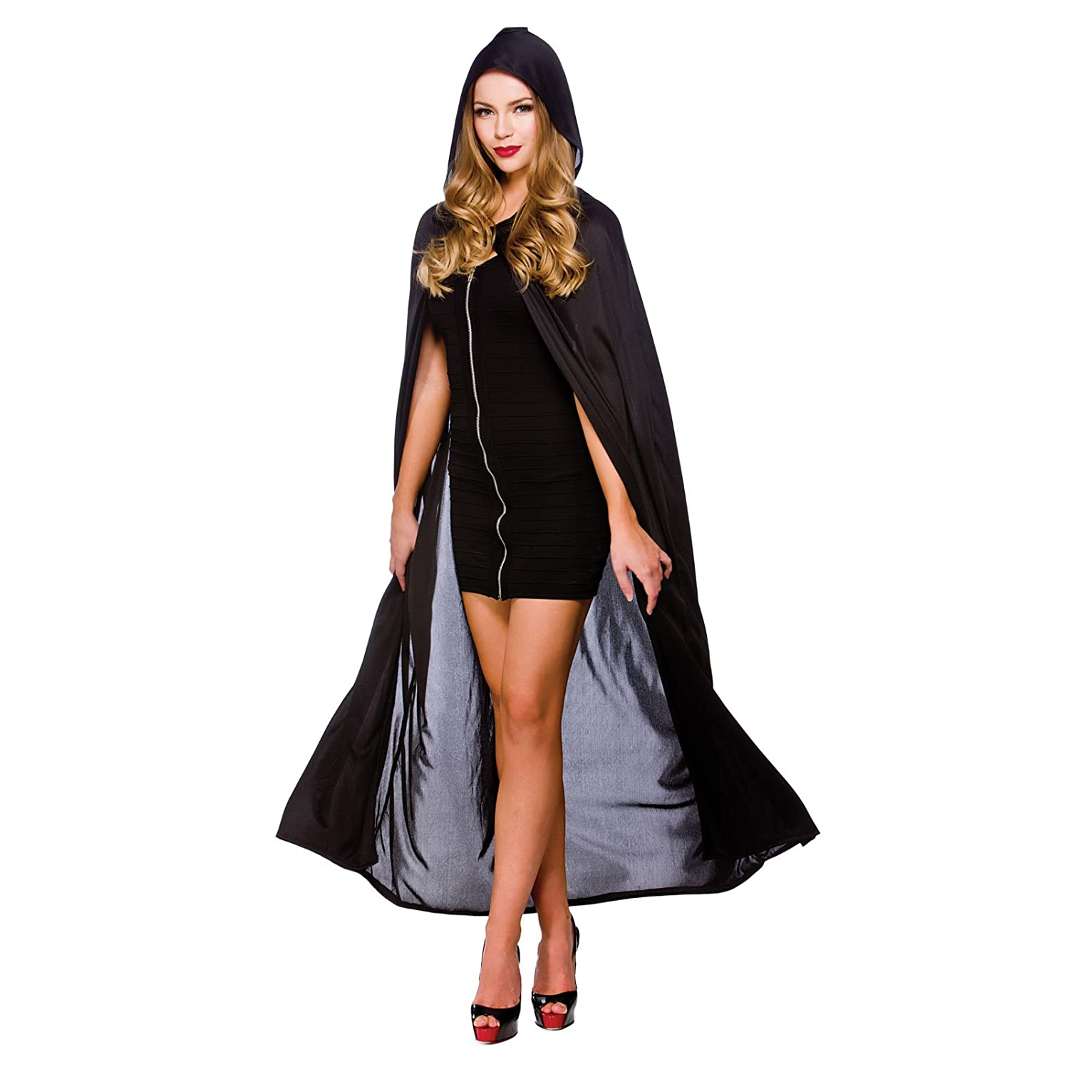 cape w hood black 52 132cm womens vampire costumes for adult ladies dracula halloween trick treat party fancy dress up outfits amazoncouk toys games - Halloween Dracula Costumes