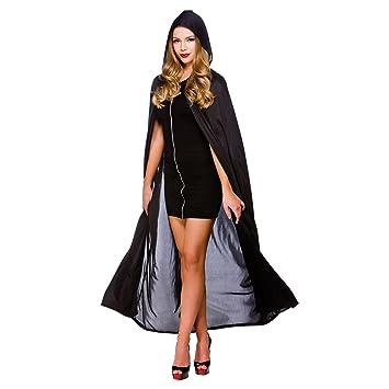 Cape W Hood Black 52 quot  132Cm Womens Vampire Costumes for Adult Ladies  Dracula Halloween 12de2ff12