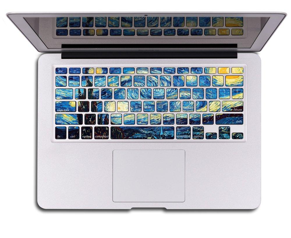 80s' Apple Rainbow Logo Protect Transparent Sticker MacBook Pro Retina 13