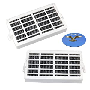 HQRP 2-pack Refrigerator Air Filter for Kenmore 106.32242101, 106.32243101, 106.32249101, 106.32942101, 106.32943101, 106.32949101, 106.51142110, 106.51143110 Fridge Models + HQRP Coaster