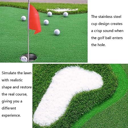 Golf Putting Green Indoor Golf Greens Putting Trainer Home Office Practica Manta de Hierba Oficina Plegable Portátil Verde (Color : Green, Size : 100 * 300 * 6cm): Amazon.es: Hogar