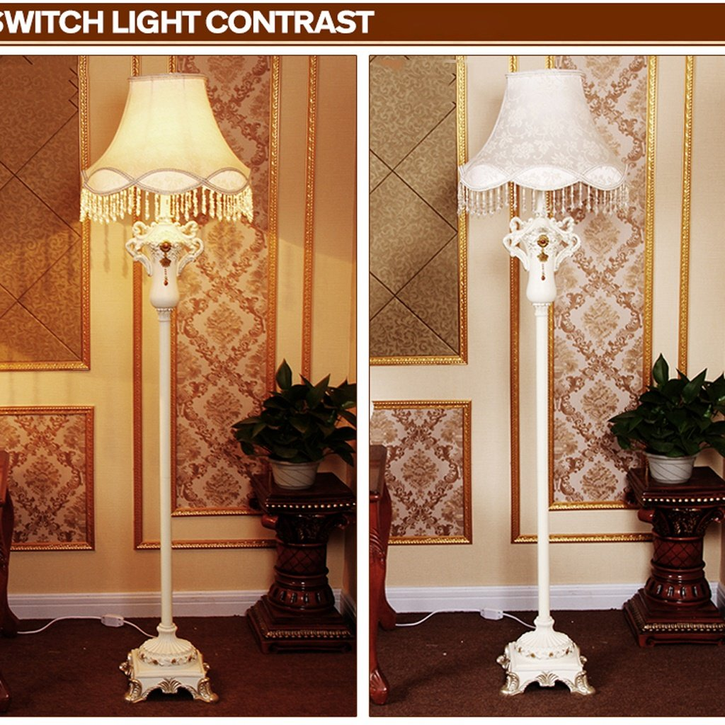Edge To Continental Living Room Floor Lamp Bedroom Study Creative Fashion Luxury Resin Retro Art Classical Floor Lamp by Edge To (Image #2)