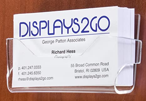 Amazon Set Of 25 Business Card Holders Clear Acrylic Wall