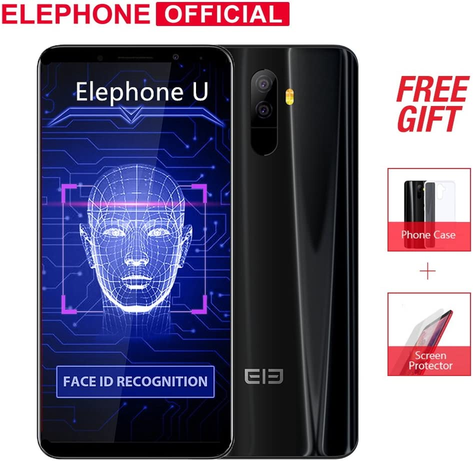 Smartphone Elephone U Mobile Phone 4G Android 7.1 Face ID 5.99