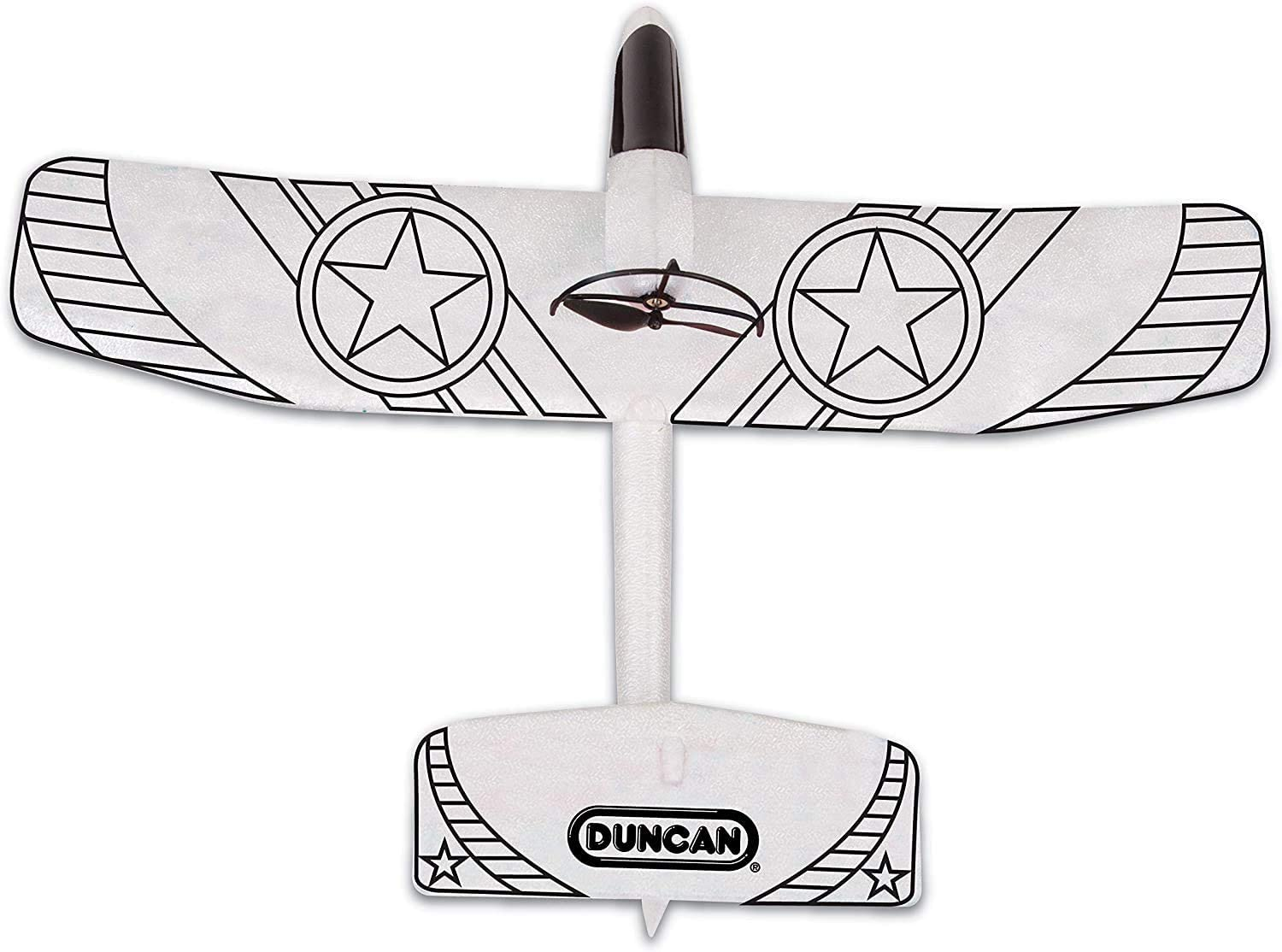 USB Charger Cable 2 Flight Positions Power Assist Motorized Toy with Template Paint Kit Duncan Toys EX-1 Glider Plane Extra Propellers