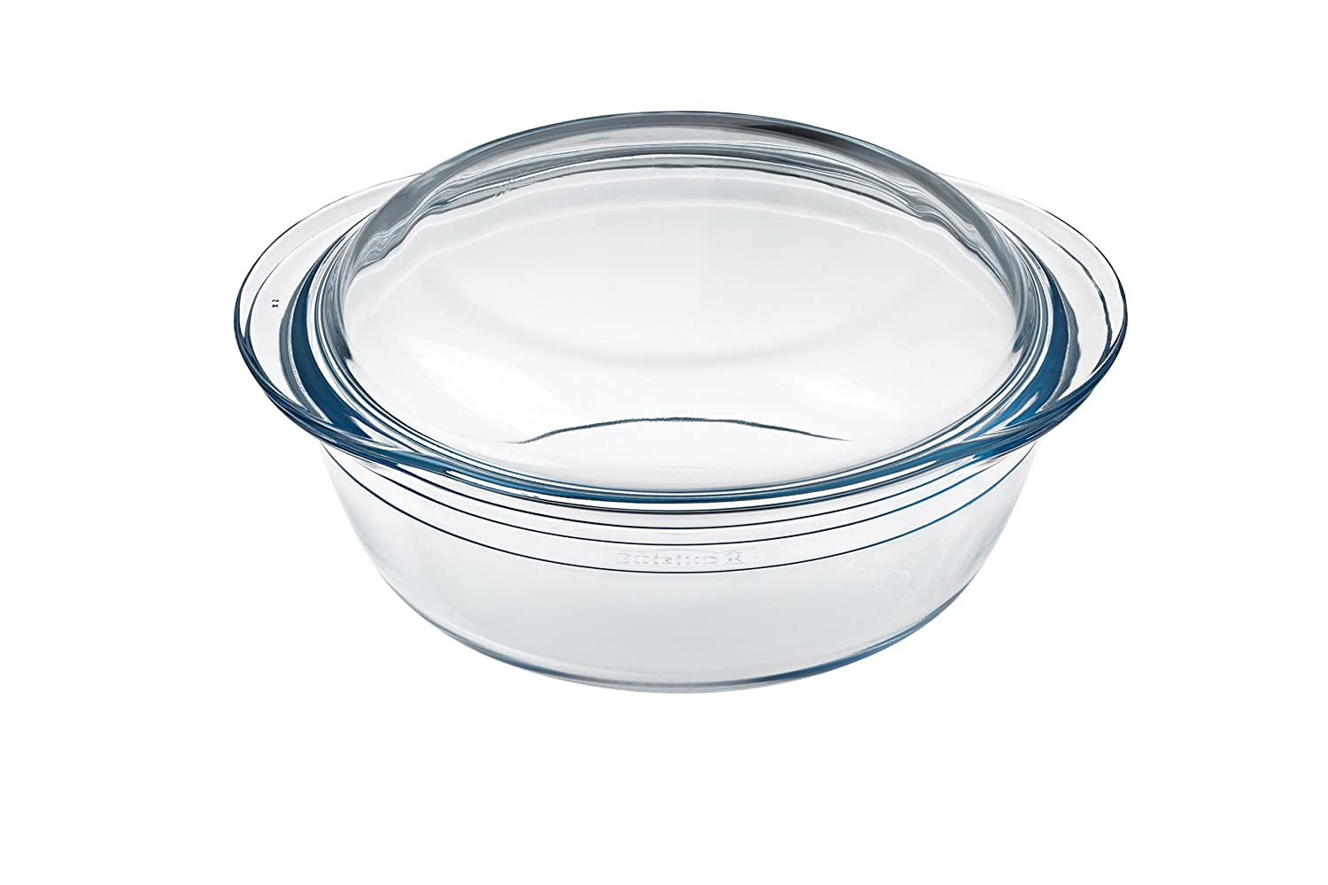 Arcuisine 1 Litre Round Borosilicate Glass Casserole Arc International FBA_207AA00/5043