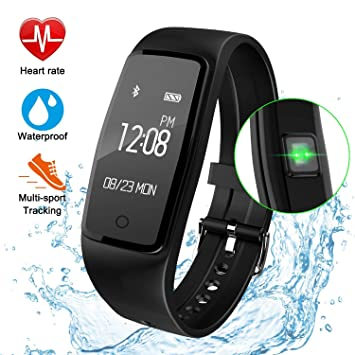 Fitness Tracker reloj, gulaki IP67 impermeable pulsera inteligente GPS reloj inteligente para la salud entrenamiento