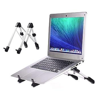 GUSODOR Soporte para Portátil Ventilado Soporte de Refrigeración para Ordenador Portátil Plegable Ajustable Ligero Ergonómico Laptop Stand para Notebook y ...
