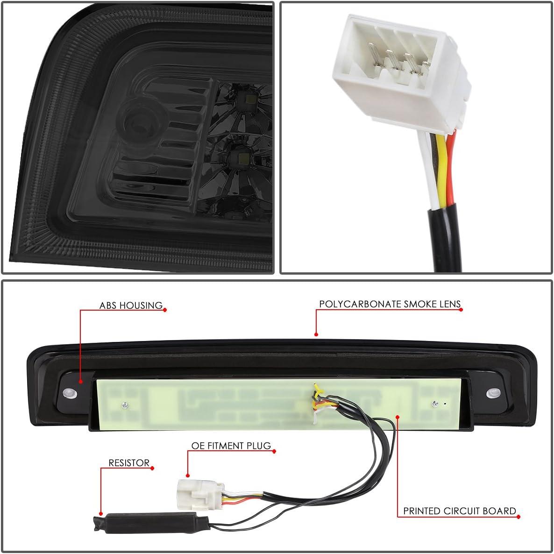 Simulated Carbon Fiber DNA Motoring 3BL-DRAM09-3D-T4-LED-BK Sequential LED 3rd Third Tail Brake Light Stop Lamp For 09-18 Dodge Ram