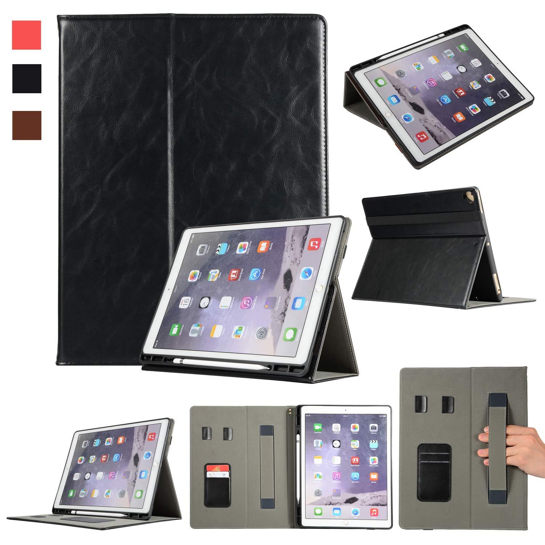 【ふるさと割】 プレミアムレザータブレットケース 2018用 カードスロット2つ 鉛筆ホルダー+ハンドストラップ+フリップ保護ケース+自動スリープ/ウェイクアップスマートカバー iPad Pro iPad B07L3D9HS3 12.9インチ A1876/A1895/A2014 2018用 New iPad Pro 12.9-inch 3rd Gen A1876/A1895/A2014 ブラック SJBW002 ブラック B07L3D9HS3, 彫姫工房:9f864546 --- a0267596.xsph.ru