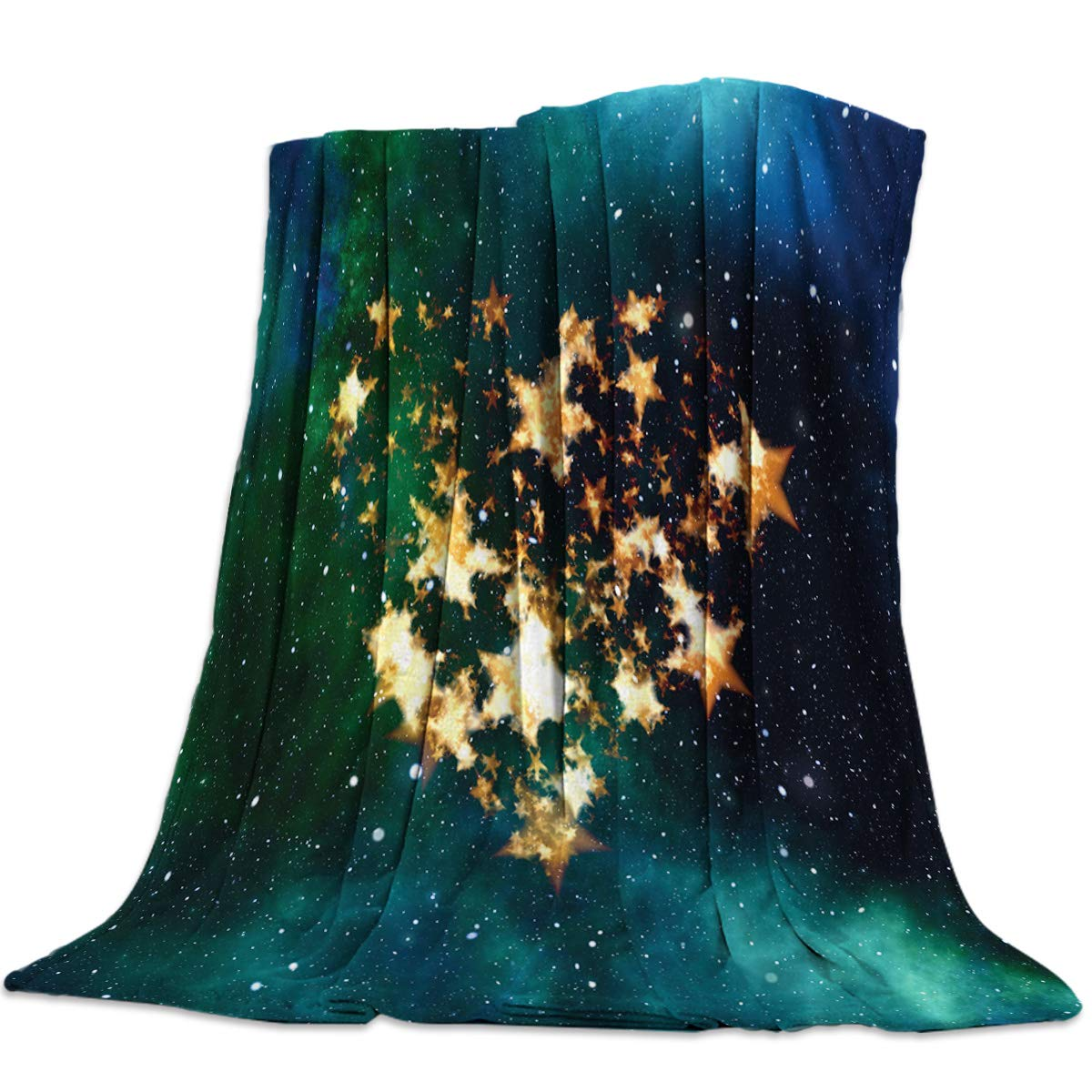 Starry Night11yag6392 49x59inch=125x150cm YEHO Art Gallery 49x59 Inch Flannel Fleece Bed Blanket Soft ThrowBlankets for Girls Boys,bluee Shark in The Deep Sea,Cozy Lightweight Blankets for Bedroom Living Room Sofa Couch