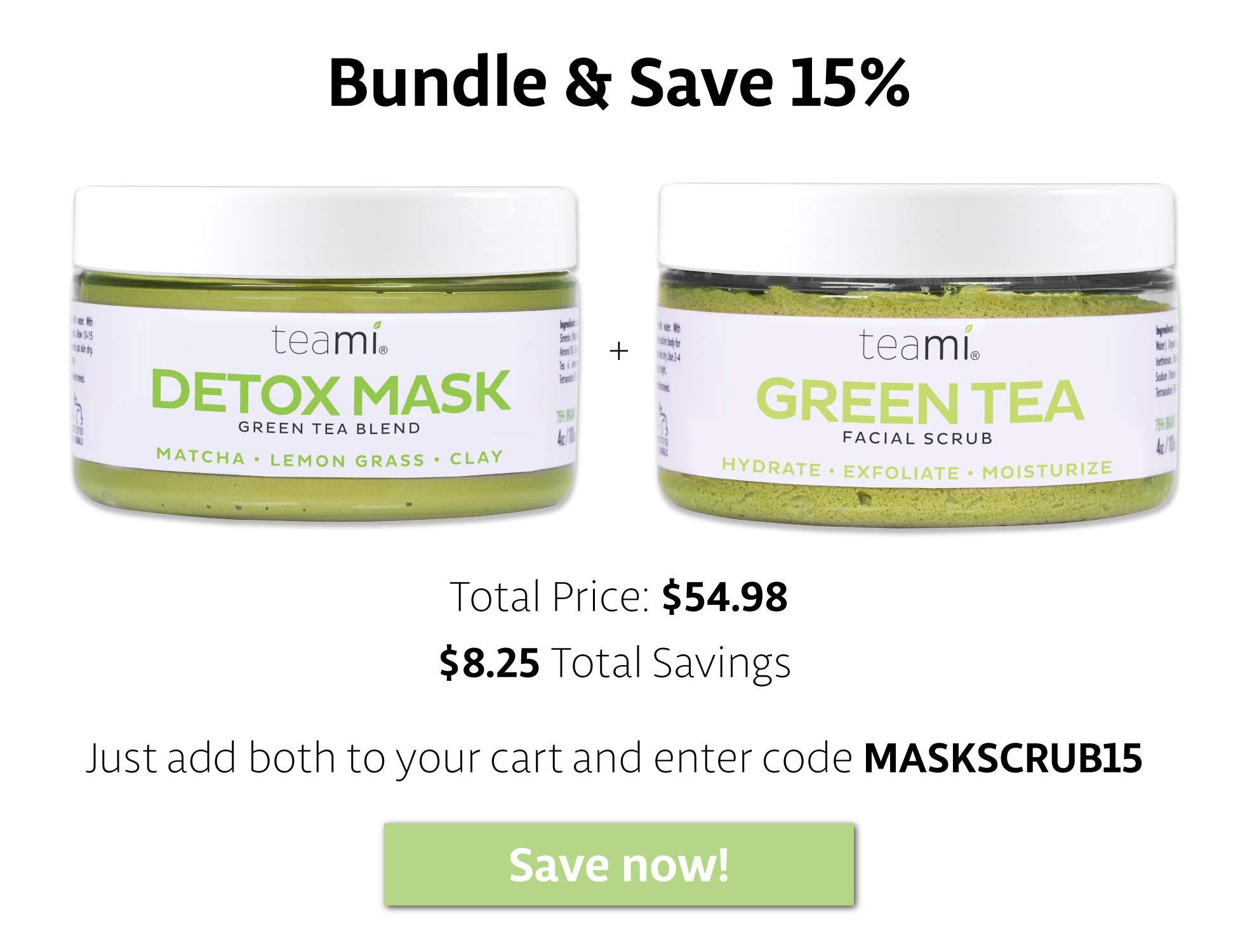 Teami Detox Face Mask - Green Tea Facial Care Mud Mask with Bentonite Clay by Teami