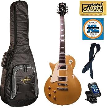 Oscar Schmidt mano izquierda Guitarra eléctrica estilo LP, oe20glh, oro, bolsa): Amazon.es: Instrumentos musicales