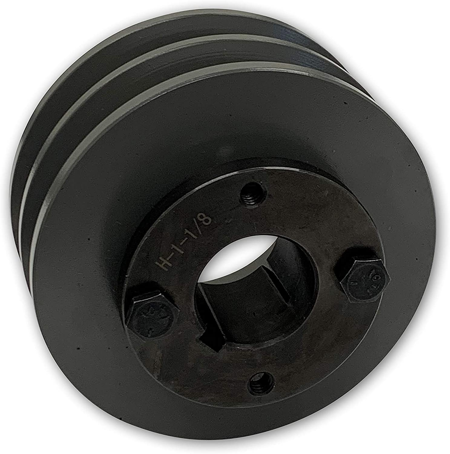 For 3//8 and 1//2 Top Width 3L // A//AK // 4L // 4LK Section V Belts BUSHING INCLUDED 2 Groove Pulley Double Groove 10.25 Cast Iron Electric Motor H Pulley//Sheave 1.375 Bore 1-3//8 Shaft