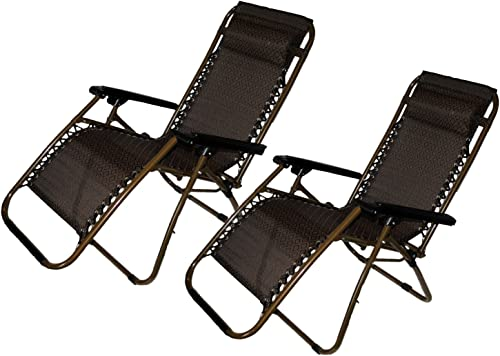 Shop4Omni Set of 2: Zero-Gravity Canopy Lawn Patio Chair