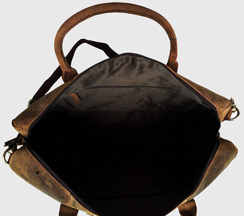 Leather Travel Duffel Mens Full Grain Leather Duffel Bag Overnight Travel Duffle Weekender Bag