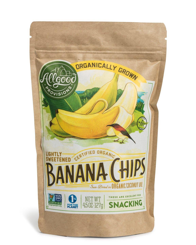 Organic Banana Chips - 2 Pack (4.5oz EA)