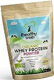 Protéines de Whey BIO en Poudre 600g (Non aromatisée): Riche en acides aminés et en BCAA, et vient avec une cuillère gratuite de 15g - 80% de protéine whey bio pures provenant de vaches nourries à l'herbe par la TheHealthyTree Company