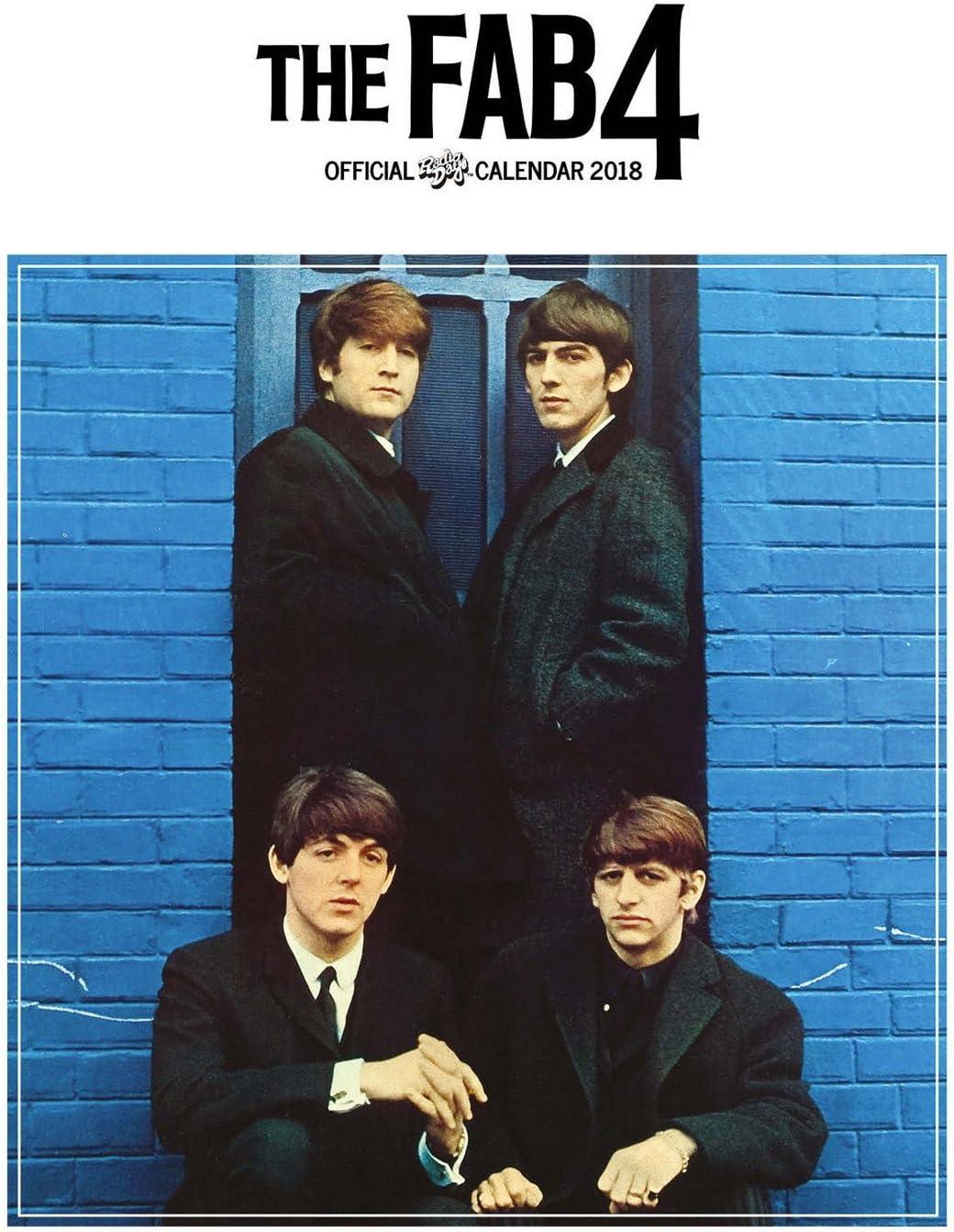 Imagicom Imacal207 Calendario Da Parete Dei Beatles, Carta, Blu, 0,1X30,5X42.5 Cm