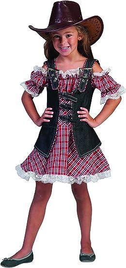 Fasching Fete – Cowgirl Disfraz MT vestido a cuadros para niños ...