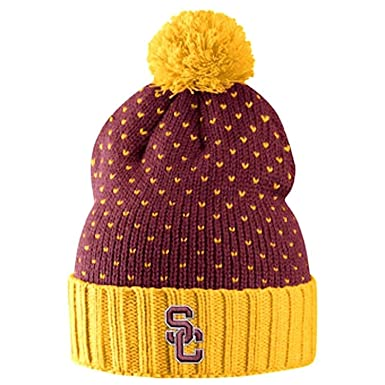 san francisco 4ad26 c2ad6 ... coupon for nike usc trojans womens local dna cuffed knit hat beanie  cardinal red gold 19db0