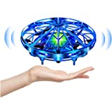 UTTORA Mini Drone Flying Toy Hand Operated Drones for Kids or Adults -UFO Drone Helicopter, Easy Indoor Outdoor Flying…