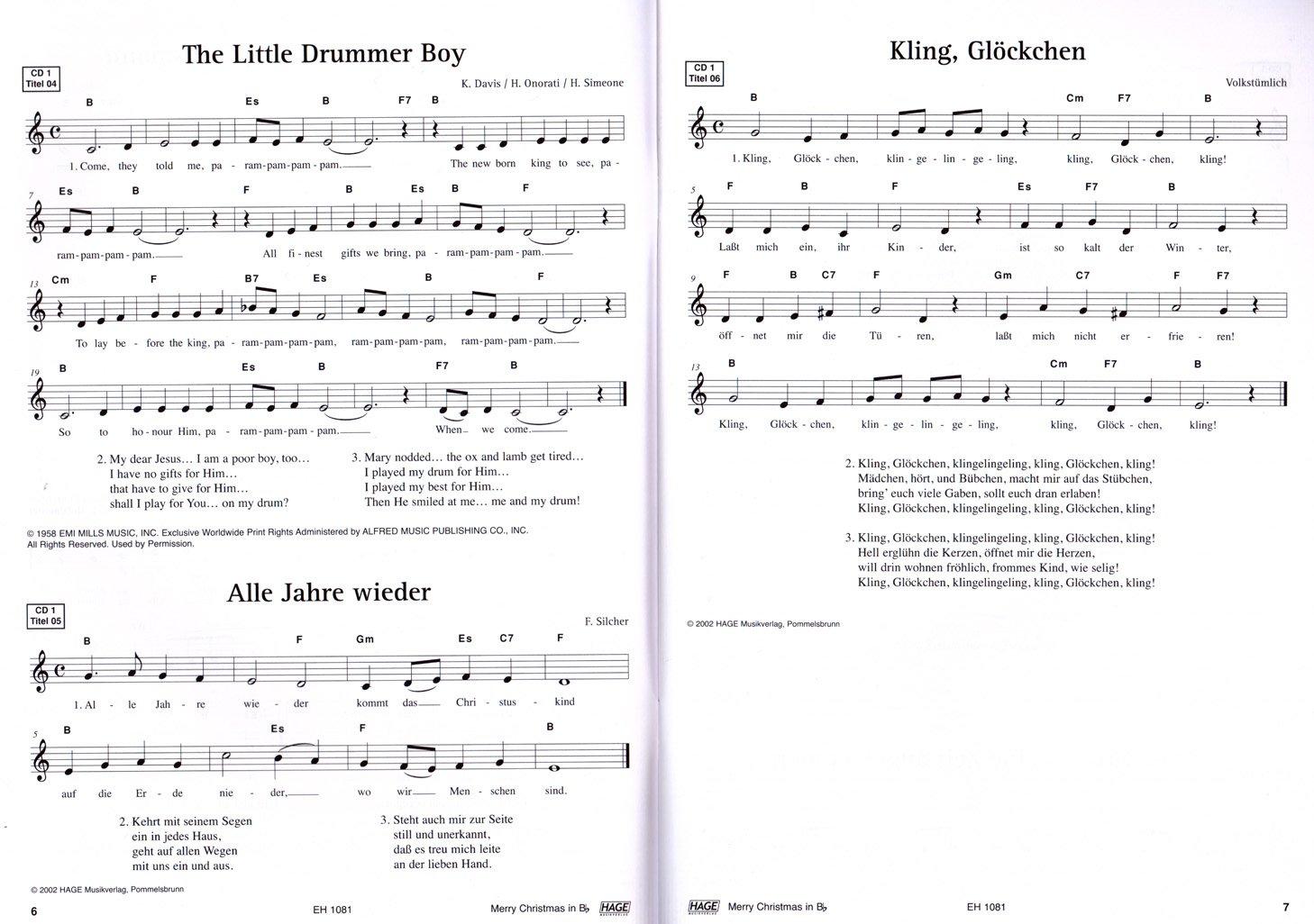 Elegant Kling Glöckchen Galerie Von Merry Christmas, Ausgabe Für B-instrumente : Trompete,
