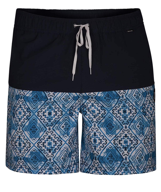 Hurley Groovy Volley 17' Pantalones Cortos, Hombre, Blanco, S