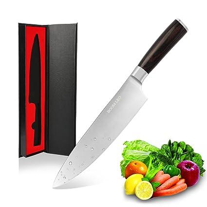 BOOM LEO 20 cm Profesional Cuchillo de Cocinero/Cuchillos Cocina/de Alta Calidadacero Inoxidable Cuchillos de Cocina/Cuchillo Cocinero Profesional