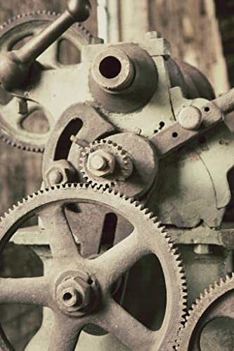Gears Wall Art Factory Salvage Railroad Photograph Industrial Decor
