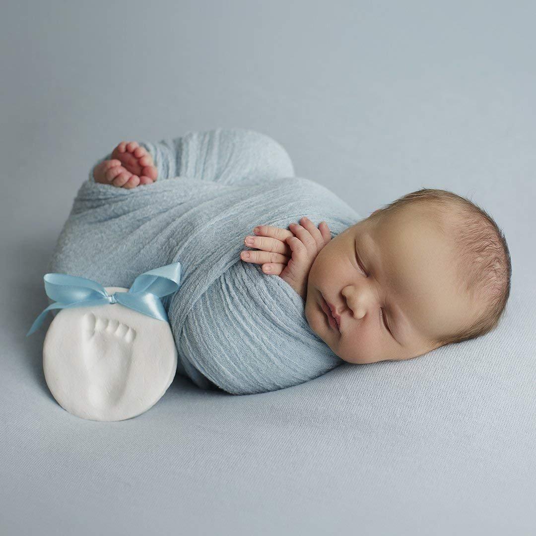 Bubzi co baby handprint footprint clay ornament kit for newborns infants personalized keepsake
