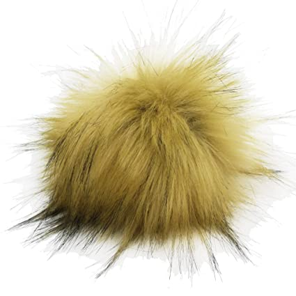 f0d237b5936 Image Unavailable. Image not available for. Color  Furling DIY 12pcs Faux  Raccoon Fur 11cm Pom Pom Ball for Knitting Hat ...