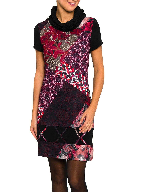 SMASH Damen Kleid Monaco Vestido A Manga Corta Con Cuello Alto - A1683307
