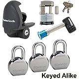 Master Lock - 6 Trailer Locks Keyed Alike #6KA-3796230-37
