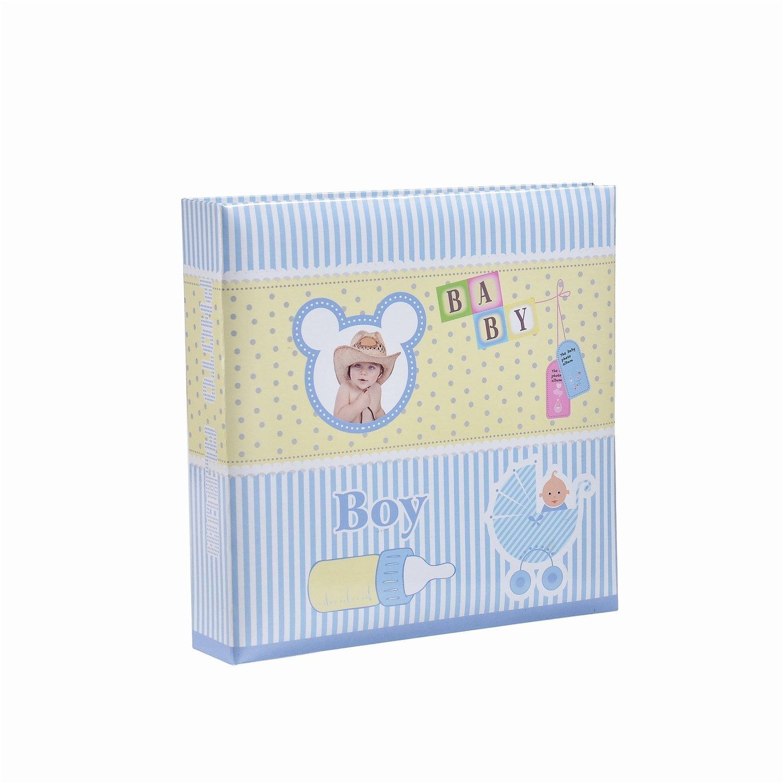 ARPAN Baby Boy Blue Slip In Case Photo Album For 200 Photos (4'' x 6'')