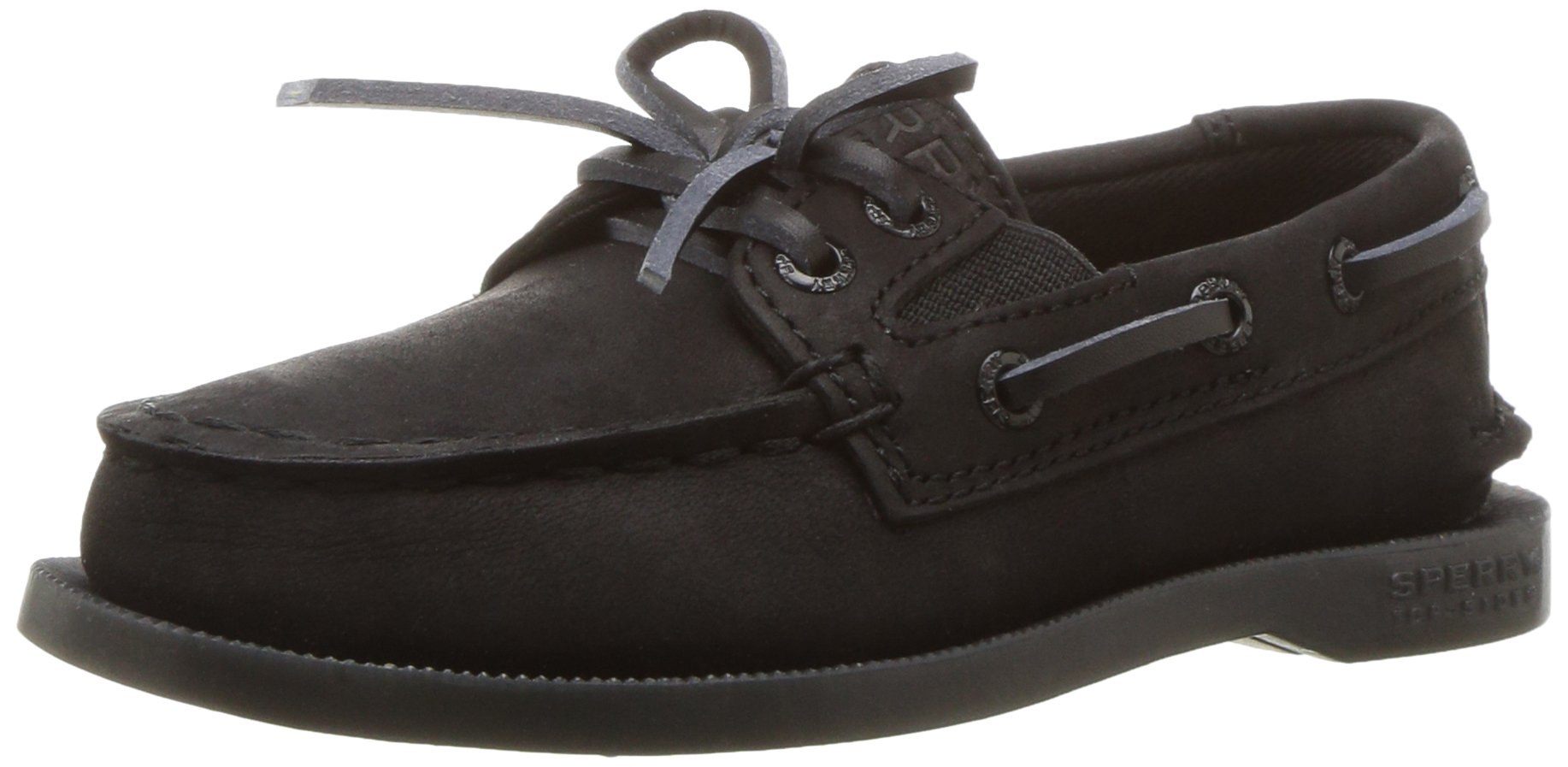 Sperry Authentic Original Slip On Boat Shoe (Toddler/Little Kid/Big Kid), Black, 5 M US Toddler by SPERRY