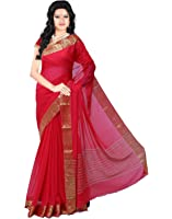 Roopkala Silks & Sarees Women's Chiffon With Blouse Piece (Ds-236_Red)