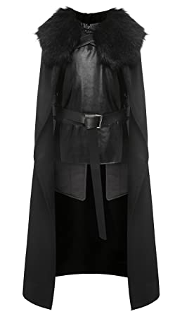 1stvital Jon Snow Knights Watch Cosplay Halloween Costume Cape Outfit for Adults Menu0027s XX-  sc 1 st  Amazon.com & 1stvital Jon Snow Knights Watch Cosplay Halloween Costume Cape Outfit for Adults and Kids