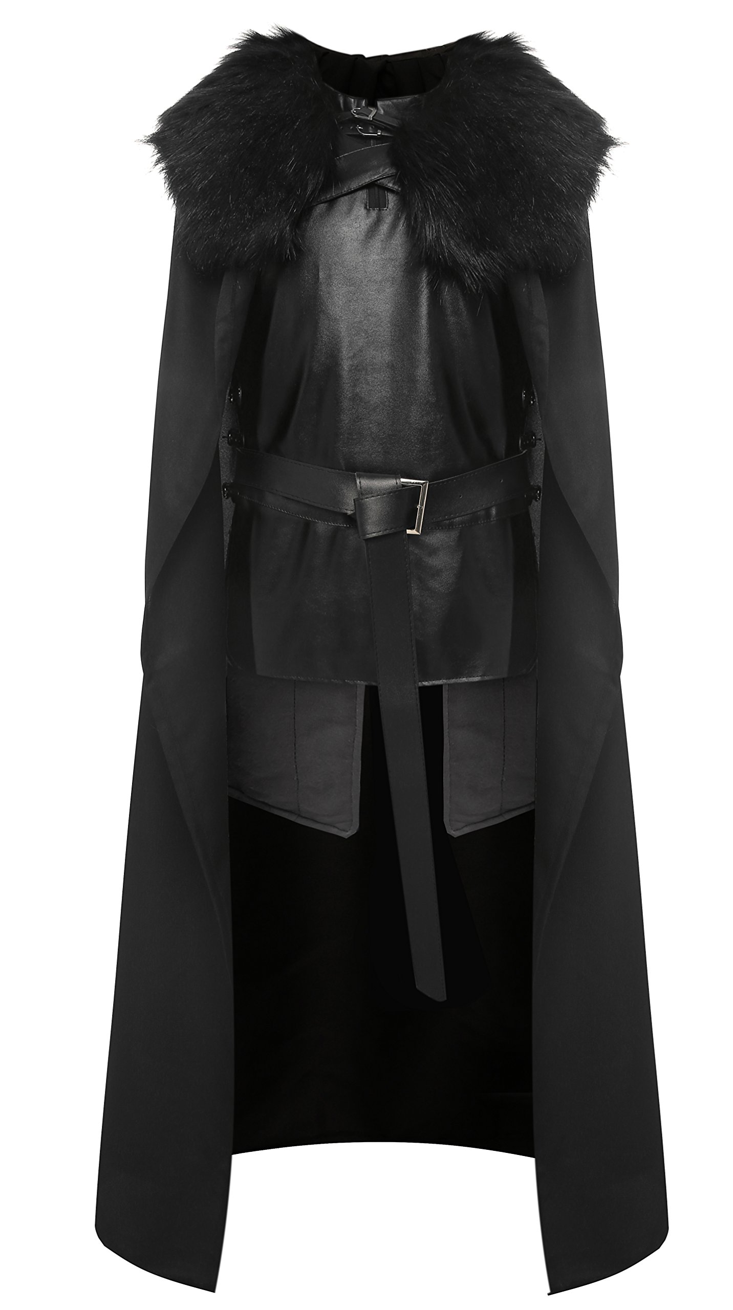 1stvital Jon Snow Knights Watch Cosplay Halloween Costume Cape Outfit Men's X-Large by 1stvital (Image #1)